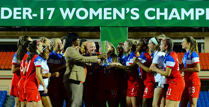 Celebracion USA femenina. CortesiaConcacaf