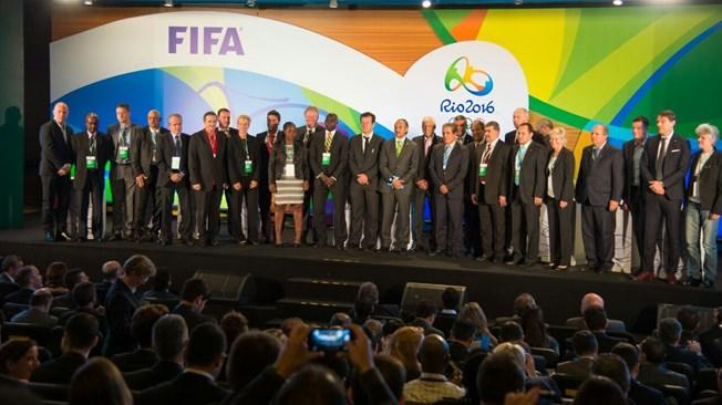 Sorteo fútbol Olimpico en el auditorio del Maracaná ena  Río de Janeiro
