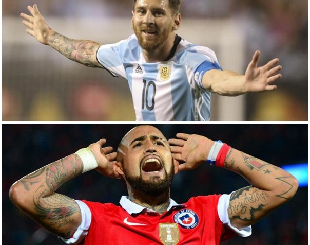 Argentina Chile Messi Vidal