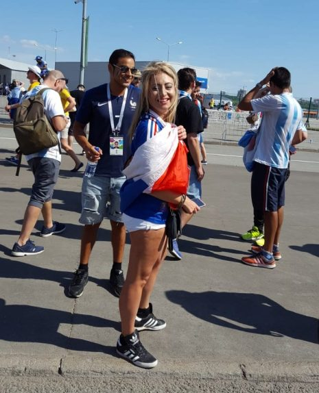 Francia Argentina hinchas